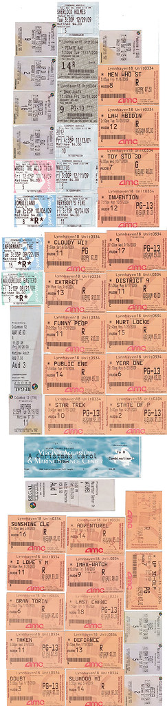 The Year in Ticket Stubs.