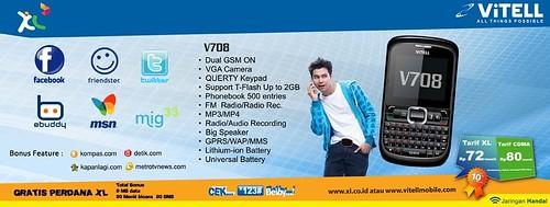 Vitell V708 bundling XL Rp 555 ribu