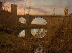 Puente de Alcntara con caas (to311235) Tags: toledo breathtaking reflejos caas puentedealcntara breathtakinggoldaward breathtakinghalloffame