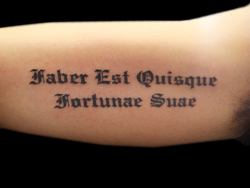 text tattoo. Latin text tattoo lettering