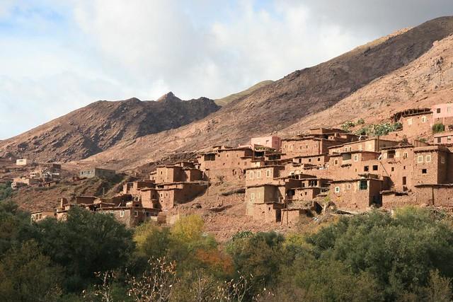 Photo Petit Village pret de Imarigha dans le Montagnes de l'Atlas