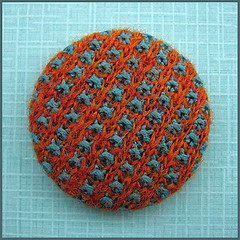 Knitted button (Birthine) Tags: wool knitting buttons knit button knap strik knapper ylle uld birthine