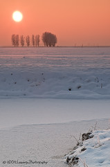 Winter sunset (Nielsast) Tags: winter sunset snow holland ice netherlands zonsondergang nikon sneeuw nederland landschap zonsopgang ijs d300 purmerend weidevenne provincienoordholland
