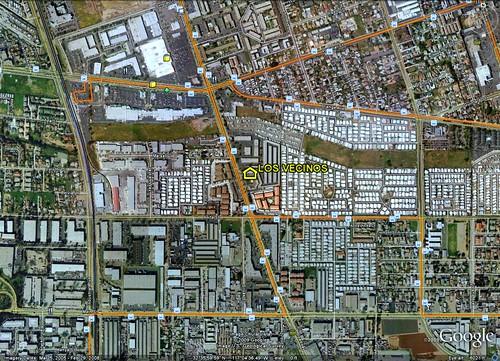 location of Los Vecinos (by: Google Earth)