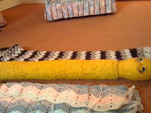Snake Draught Excluder Makeover! -