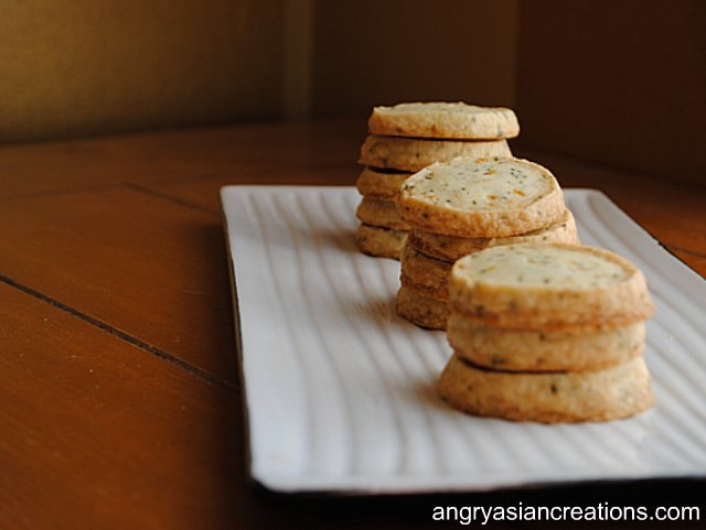 Orange Rosemary Shortbread Cookies