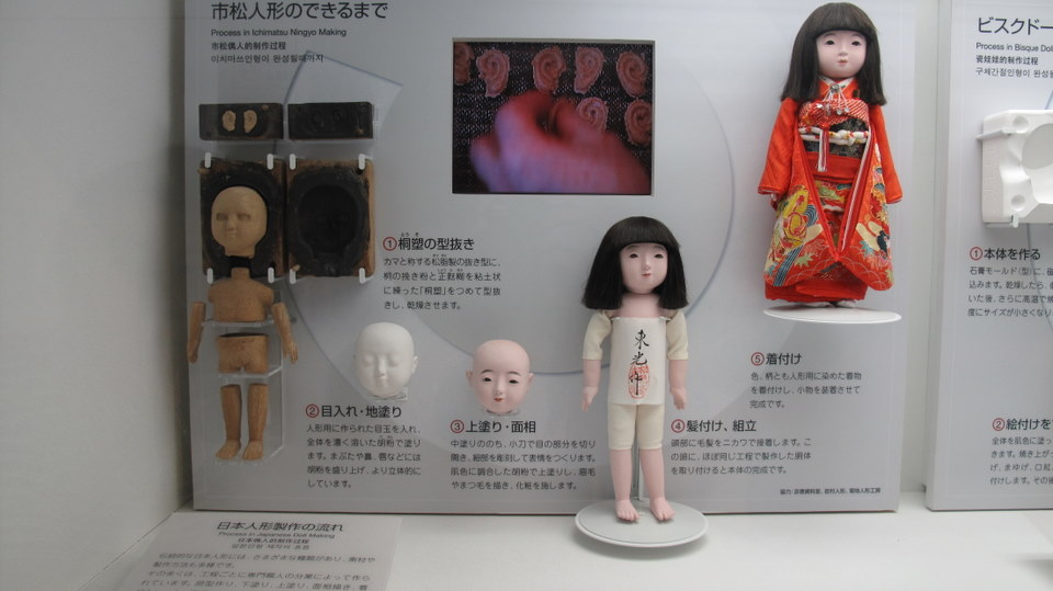 Stages of the doll making. The completed Kimono clad doll on the right looks wonderful.