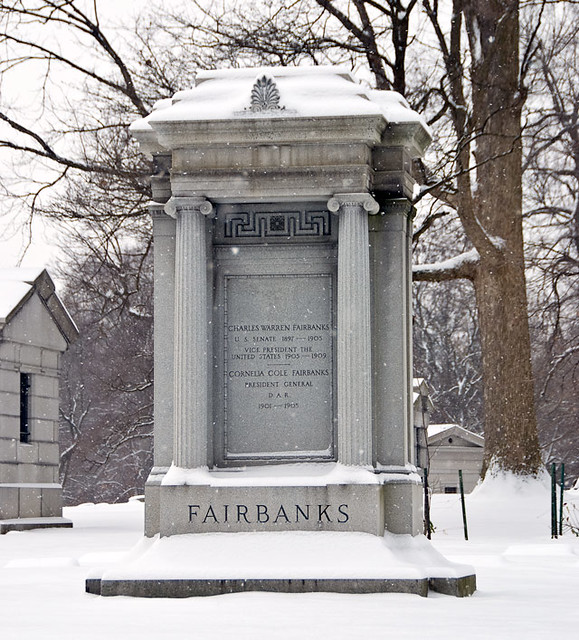 Vice President Charles Fairbanks by Crown Hill Cemetery