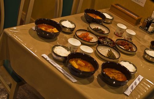Cena coreana en el Ferry