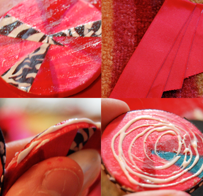 creating ribbon brooches