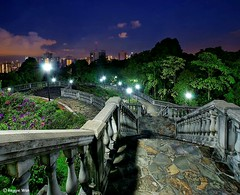 Spooky encounter #1. (Reggie Wan) Tags: sunset garden singapore southeastasia soe hdr twop terracegarden stonestaircase sonya700 telokblangahhill reggiewan