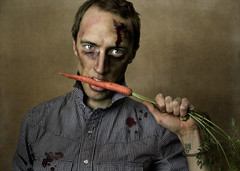 Even Vegetarians Can Be Zombies.... (Boy_Wonder) Tags: canon blood zombie joel makeup carrot inside 365 facepaint fgr