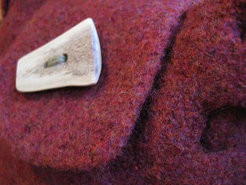 caribou antler button