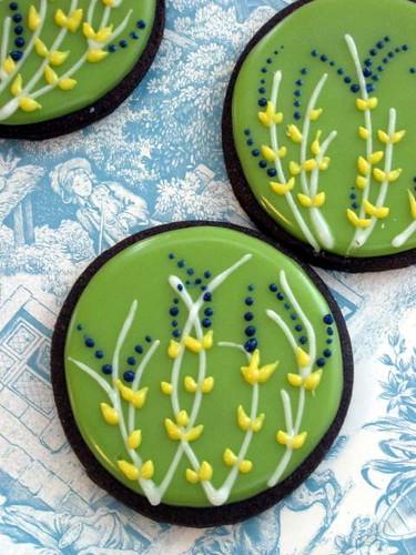 Meadow Flowers Chocolate Cookies