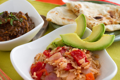 Chicken Mole & Mexican Rice with Avocados