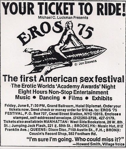 06/07/75 Eros '75 @ Hotel Diplomat (Ad)