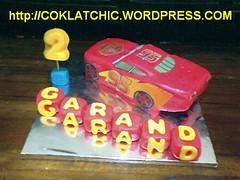 ... yg ke 2 kue yang saya pesan yaitu lightning mcqueen seperti contoh kue