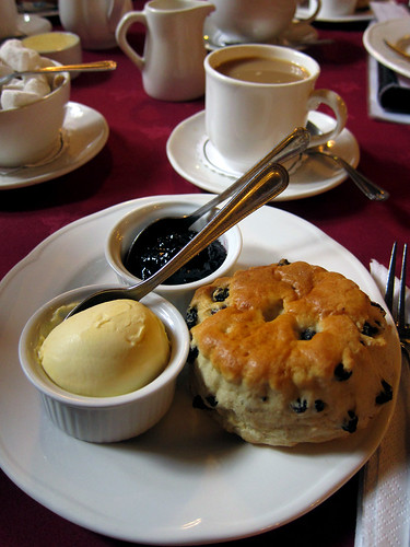 Scone, jam and clotted cream