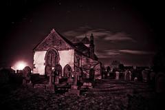 Eerie (Esther Seijmonsbergen) Tags: graveyard night stars scary eerie graves lincolnshire spooky mysterious gravestones standrewschurch bonby estherseijmonsbergen wwwdigitalexposurephotographycom digitlexposurephotography