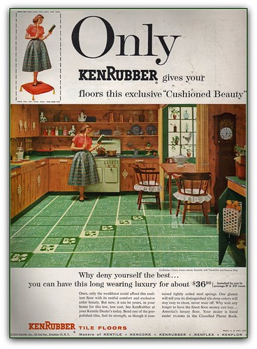 kenrubber floors 1955 ad