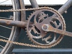 rusty-leaping-gazelle-chainring (@WorkCycles) Tags: holland netherlands bike bicycle rust rusty gazelle fietsen fiets amstedam chainring workcycles
