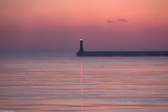 Sunsay Morning (anka.anka28) Tags: pink sea port poland polska lantern gdynia morze pomorze latarnia rowy 450d falochron canon450d platinumheartaward