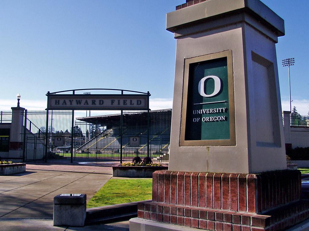 Hayward Field on the University of Oregon Campus