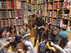 Saturday knitting class .Mallia Sakalak.Athens (sifis) Tags: city alpaca shop night canon shopping store sweater knitting day dress action knit center merino athens class yarn greece needles meet pullover lessons s90 handknitting yarns  sakalak woolshop  wwol