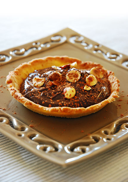 Chocolate cream tart.