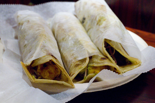 Chicken, Mutton, and Paneer Kati Rolls