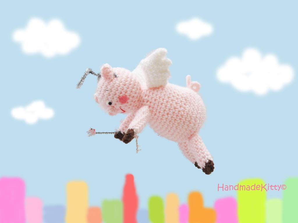 Flying Angel Pig Amigurumi Crochet Pattern : The Worlds Best Photos of amigurumi and fly - Flickr Hive ...
