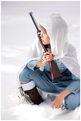 091219_sniper-0192 (masakocha) Tags: winter snow finland gun boots cosplay rifle laketahoe sniper raincoat 2009 tino aph hetalia