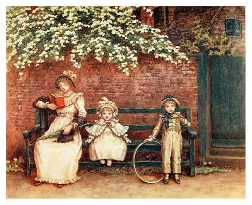 014- El banco del jardin-Kate Greenaway 1905- Marion Spielmann y George Layard
