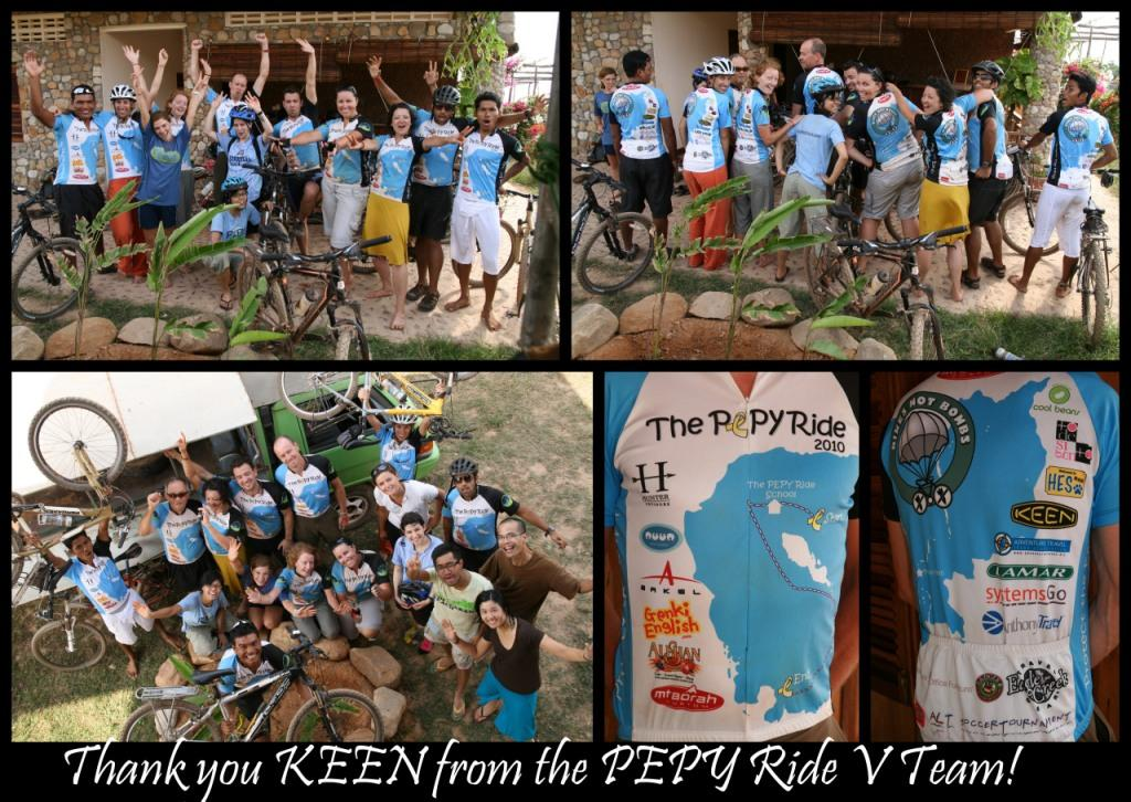 PEPY Ride - Thank You to KEEN