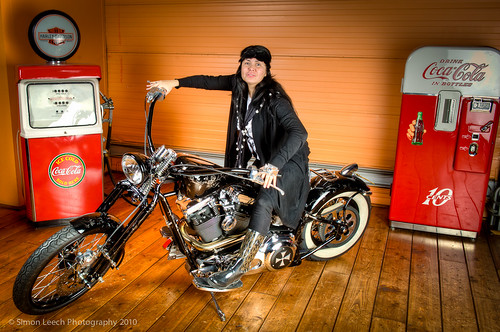 Backstage at Harley Davidson/Marlies Dekkers photoshoot with Ralph Lemarechal