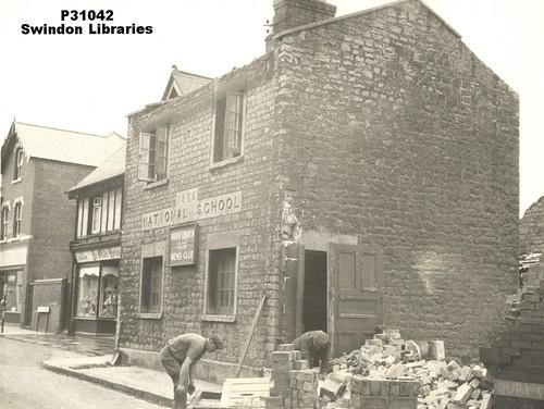 1960s Demolition Of National School On Newport Street Swindon A