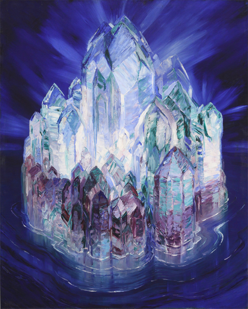 Wenzel Hablik, Crystal Castle in the Sea, 1914