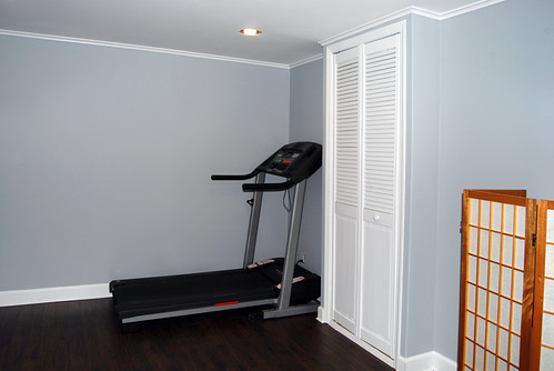Basement gym after renovation