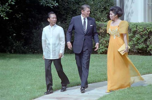 16 Sep 1982 - President Reagan with President of the Philippines Ferdinand Marcos and Imelda Marcos
