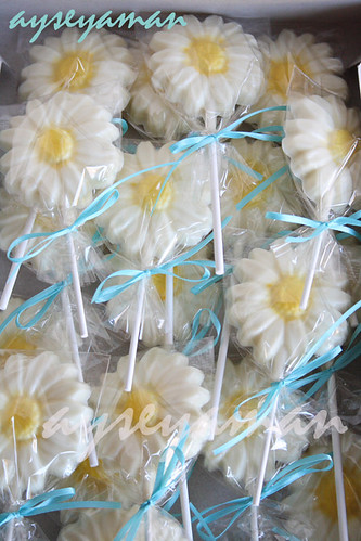 Daisy Chocolate Lollipops