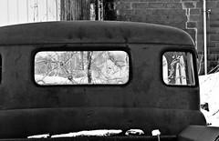 Broken Dodge (12Jeepgirl~Never look back...) Tags: winter snow abandoned broken window photoshop truck blackwhite nikon midwest sigma iowa adobe forgotten dodge roadside blackdiamond lightroom otley d300 cs4