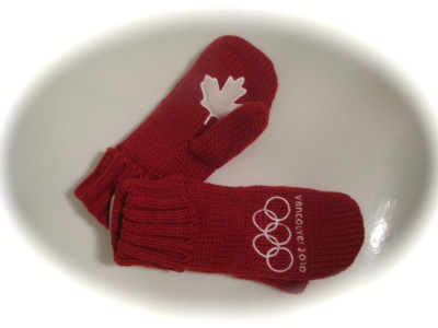 2010 Winter Olympics Red Mittens