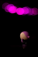 Purple Girl (John Bosley) Tags: girl butterfly toy nikon purple bokeh denver pigtails d90 project365 50mmf14af johnbosley