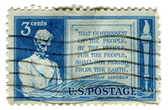 United States Postage Stamp: Gettysburg Address