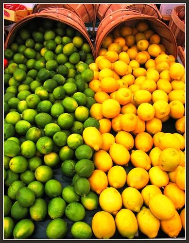 Lemons and Limes, Fresh Fruit Color