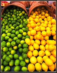 Lemons and Limes, Fresh Fruit Color (moonjazz) Tags: food color colour verde green yellow fruit store natural many fresh lemons health produce contract grocery sour limes limon fesh citcrus amirillo vitamenc