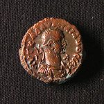 "<b>aur1 Obverse</b><br/> <a href=""http://en.wikipedia.org/wiki/Aurelian"" rel=""nofollow""><u><b>Aurelian</b></u></a> <i>Reign: AD270 - 275</i> During his reign, Aurelian campaigned heavily, trying to win back the territories lost during the reign of Gallienus. Eventually Aurelian brought the Gallic and Palmyrene Kingdoms back into the fold. By doing so, Aurelian is often credited with allowing the Roman Empire to stay alive for the next two centuries. After short rest, Aurelian undertook a campaign against the Sassanids in the East, only to be assassinated en route by his Praetorian Guard. This coin has around 50 copies in the Luther College Collections, and it is uncertain whether it was minted by Aurelian or Vaballathus (see reverse).  Donated by Dr. Orlando ""Pip"" Qualley<a href=""http://farm5.static.flickr.com/4069/4351358525_53b2baaf65_o.jpg"" title=""High res"">∝</a>"