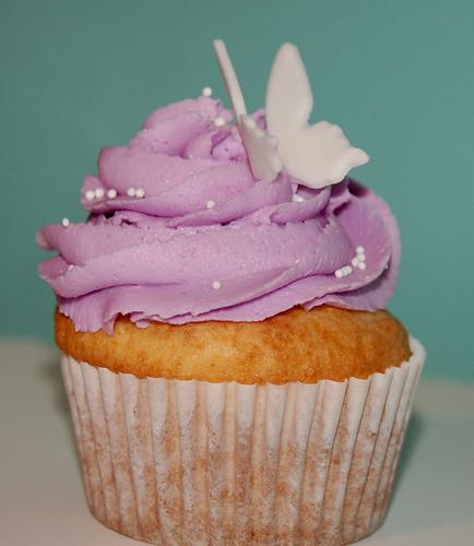 Purple Spring Cupcake