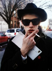 (Samantha West) Tags: portrait man brooklyn redordead samanthawest lylelodwick droppingofftherentchecknthemailbox