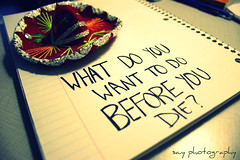 what do you want to do before you die? (sa.y589) Tags: inspiration writing paper departures sombraro project365 theburiedlife